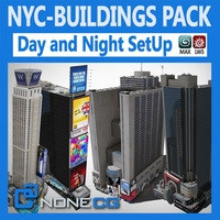 NYC Buildings Pack 3D Model