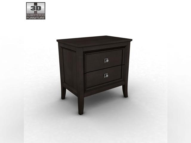 ashley martini suite storage bedroom set 3d model