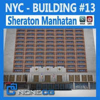 NYC Building Sheraton Manhatan 3D Model