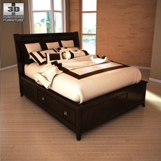 Ashley Martini Suite Queen Panel Headboard Bed 3D Model