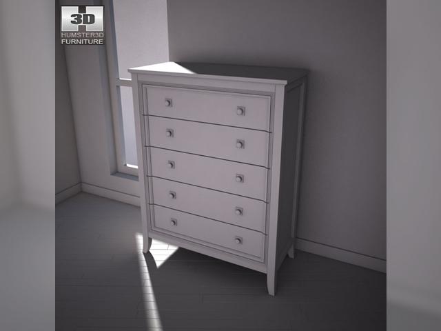 ashley martini suite chest 3d model