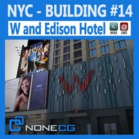 NYC Building W & Edison Hotel 3D Model