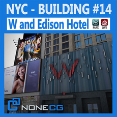 NYC Building W & Edison Hotel 3D Model