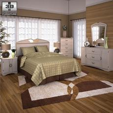 Ashley Havianna Panel Bedroom Set 3D Model