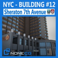 NYC Building Sheraton 7th Avenue 3D Model