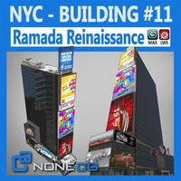 NYC Building Ramada Renaissance 3D Model