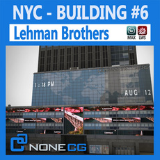 NYC Building Lehman Brothers 3D Model