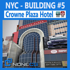 NYC Building Crowne Plaza 3D Model