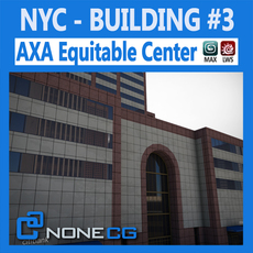 NYC Building AXA Equitable Center 3D Model