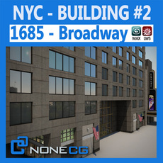 NYC Building 1685 Broadway Theater 3D Model