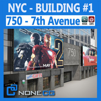 NYC Building 750 7th Avenue 3D Model
