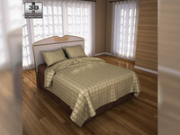 Ashley Havianna Panel Bed 3D Model