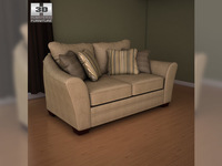 Ashley Lena - Putty Loveseat 3D Model