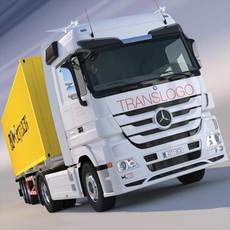 Mercedes Actros Container Semi Truck 3D Model