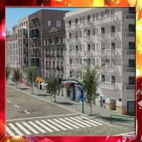 European City Block 01 3D Model