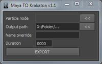 Free jd_Maya2Krakatoa for Maya 1.1.0 (maya script)