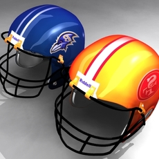 Helmet Football 3D 3D Model