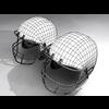 07 31 10 766 helmet football 3d wire 4