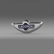 Lagonda 3d logo 3D Model