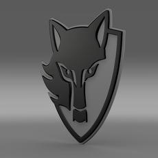 E wolf 3d logo 3D Model