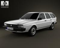 Volkswagen Passat (B2) variant 1981 3D Model