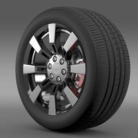 GMC Denali Hybrid wheel 3D Model