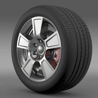 GMC Sierra Regular cab wheel 3D Model