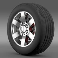 GMC Yukon Heritage Edition wheel 3D Model