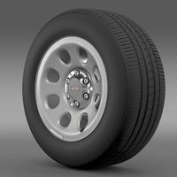 GMC Yukon Police wheel 3D Model