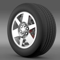 GMC Yukon XFE wheel 3D Model