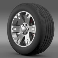 GMC Yukon XL wheel 3D Model