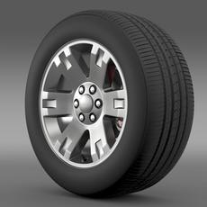 GMC Yukon XL wheel 3D Model