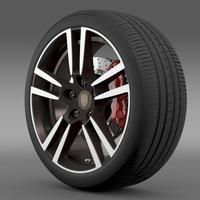 Porsche  911 Cabriolet Turbo wheel 3D Model