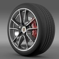 Porsche  911 Carerra 4 wheel 3D Model
