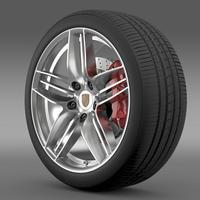 Porsche  911 Carerra 4S Cabriolet wheel 3D Model