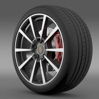 Porsche  911 Carerra 4S wheel 3D Model