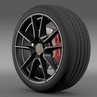 Porsche 911 Carerra Exclusive wheel 3D Model