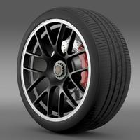 Porsche 911 Carerra GTS wheel 3D Model