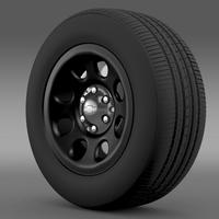 Chevrolet Tahoe Police wheel 3D Model