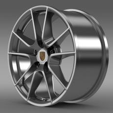 Porsche 911 Carerra 4 rim 3D Model