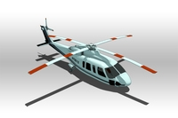 Sikorsky S-92 helicopter 3D Model