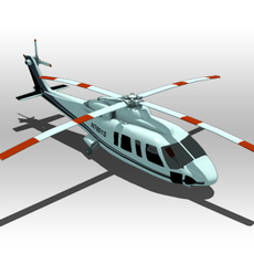 Sikorsky S-92 helicopter 3D Model