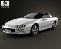 Chevrolet Camaro coupe 2000 3D Model