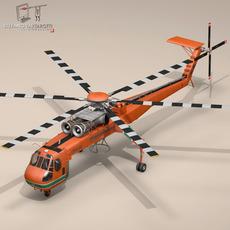 S 64E Skycrane 3D Model
