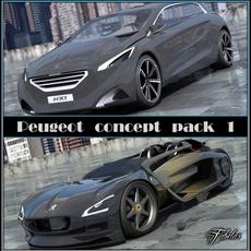 Peugeot Concept pack 1 2.0 3D Model