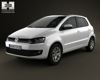 Volkswagen Fox 5-door 2012 3D Model