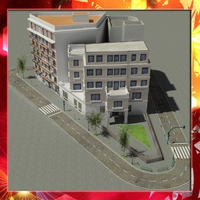 European City Block 02 3D Model