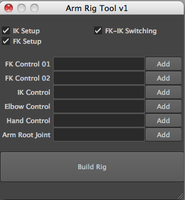 Arm rigging Tool 1.0.0 for Maya (maya script)