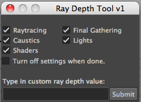 Free Ray Depth Tool for Maya 1.0.0 (maya script)