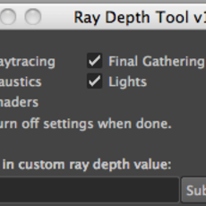 Ray Depth Tool for Maya 1.0.0 (maya script)